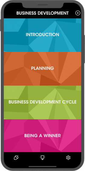 Business Development - Menu