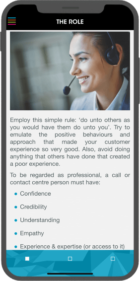 Telephone Customer Service - The Role